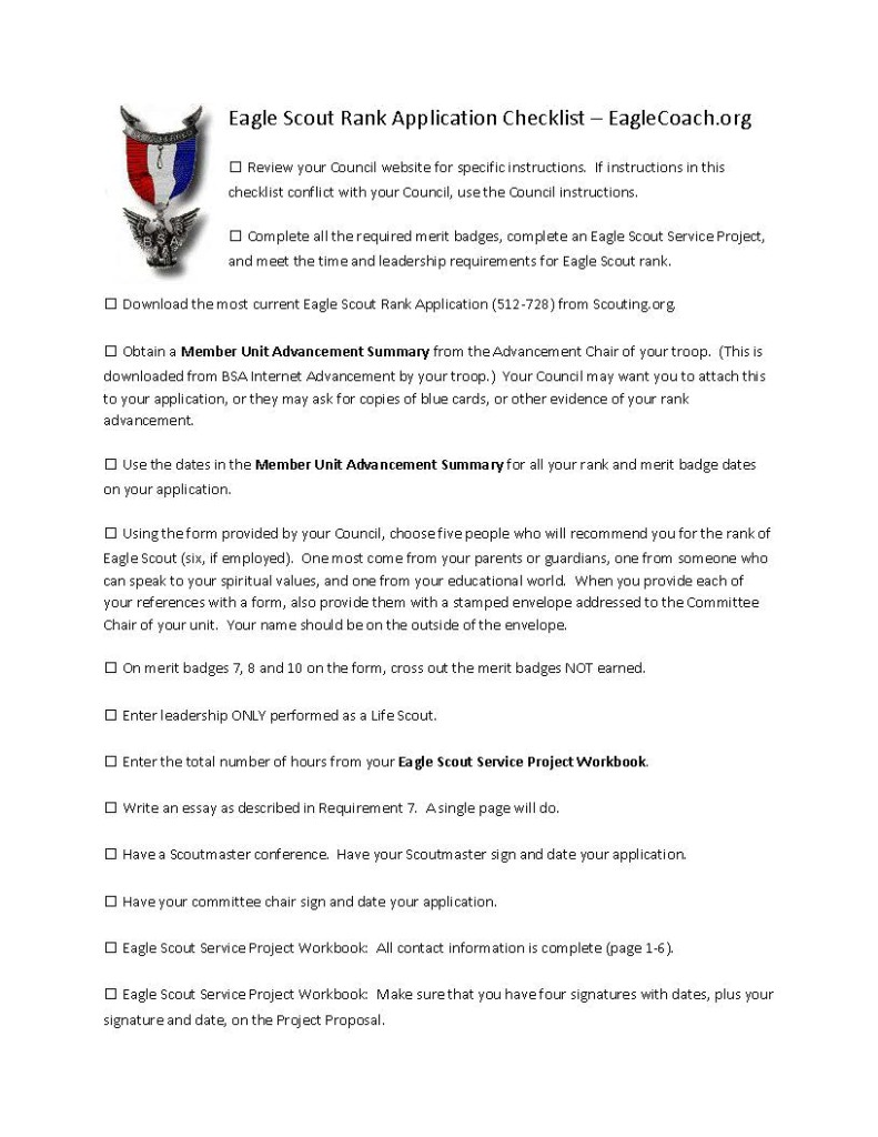 Eagle Scout Application Reference Letter Templates
